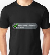 Achievement Unlocked I Voted Unisex T-Shirt