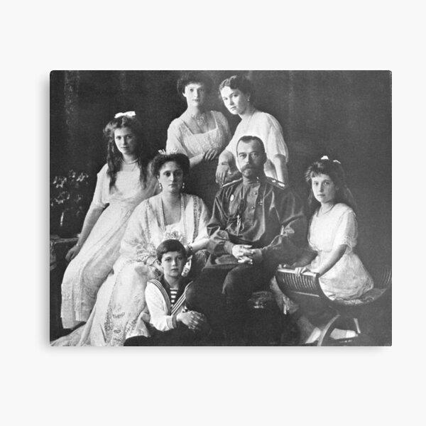 Царь Николай II и его семья в Санкт-Петербурге. Начало 1910-х гг.  Metal Print