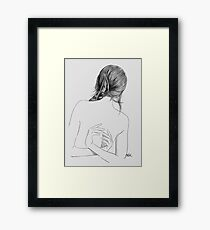 between here and there Framed Print