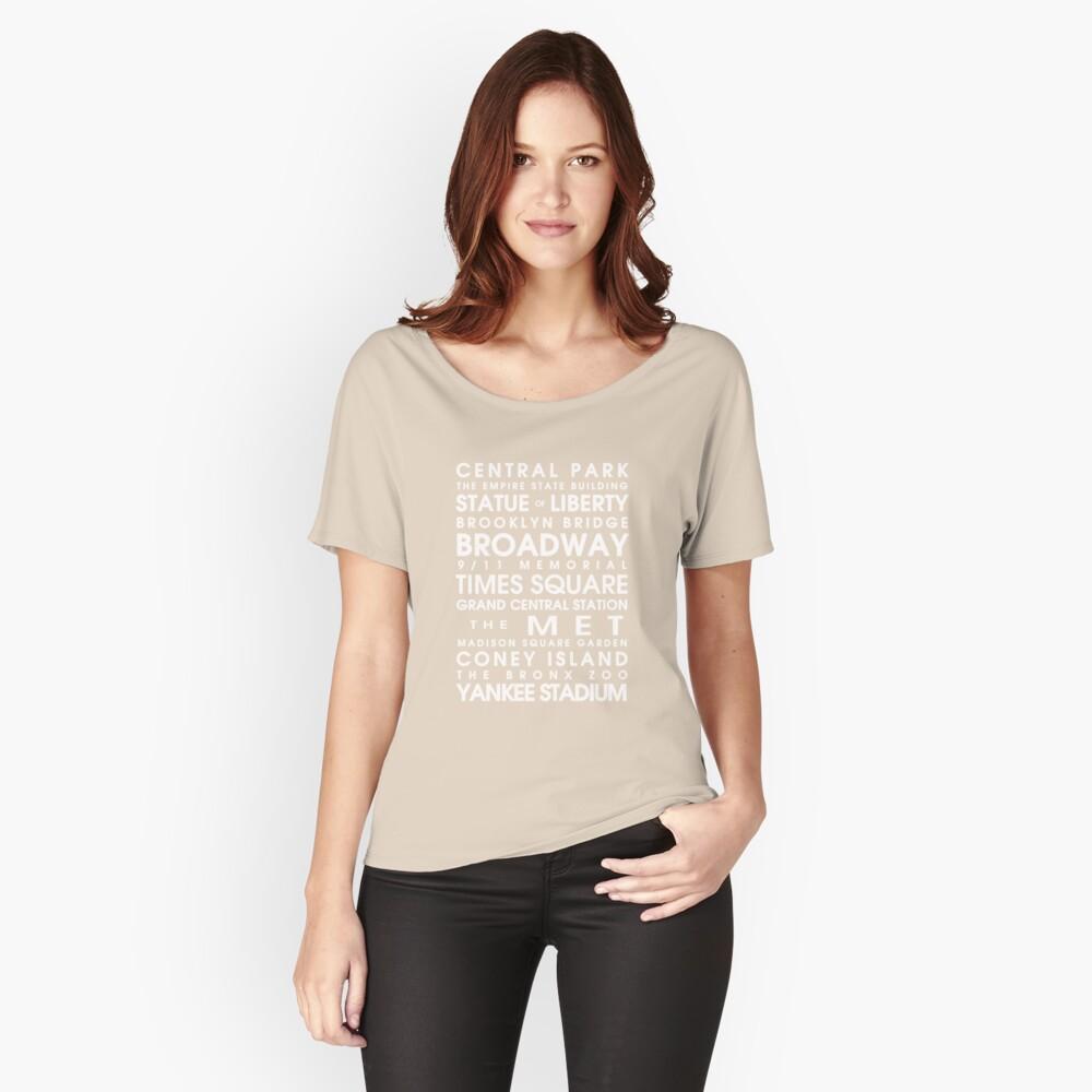 Camiseta ancha para mujerNew York City Roll Delante