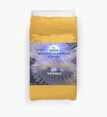 WHOLENESS COMES IN HIS LOVE Duvet Cover