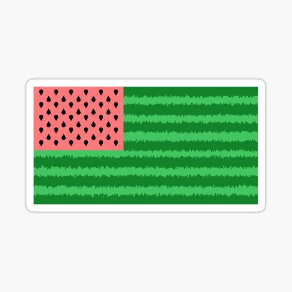Watermelon Flag Sticker