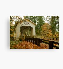 Bridge Over Linn County Canvas Print