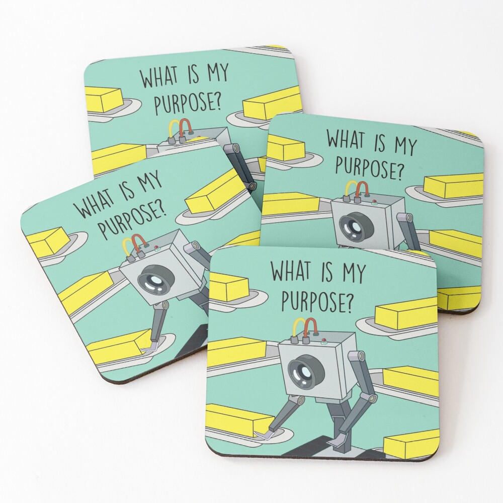 Butterbot Coasters (Set of 4)