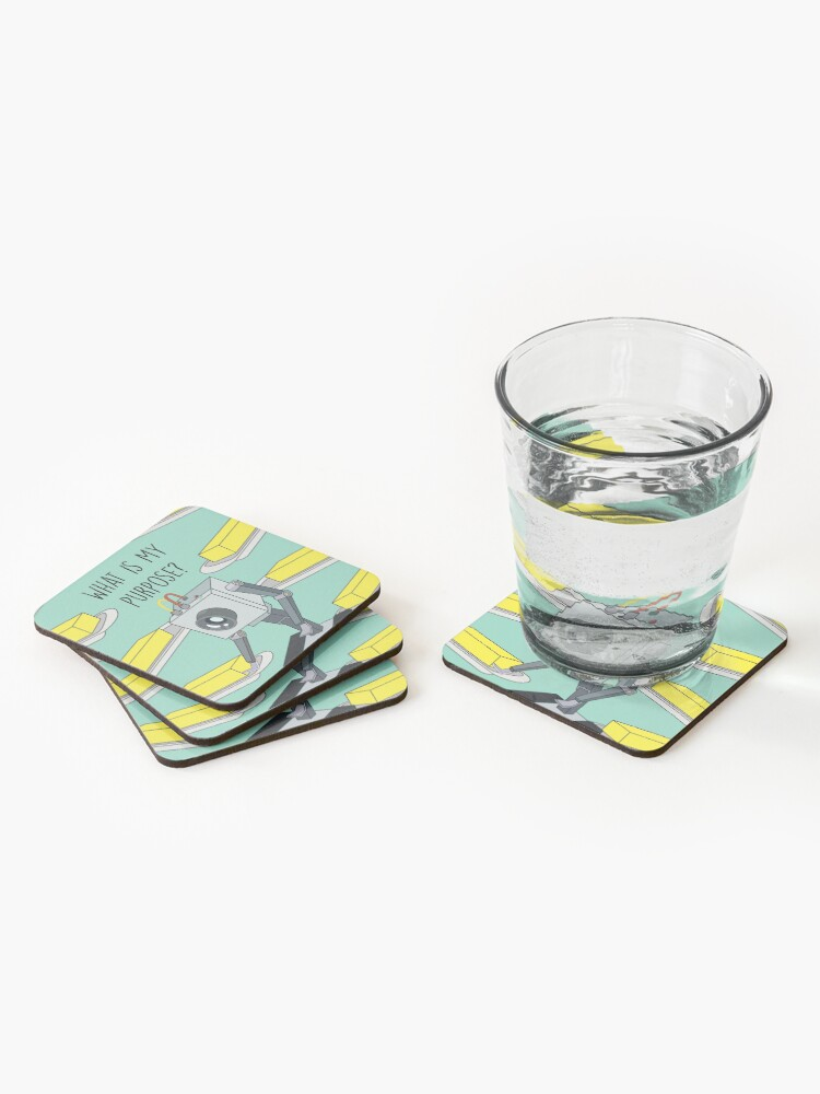 Alternate view of Butterbot Coasters (Set of 4)