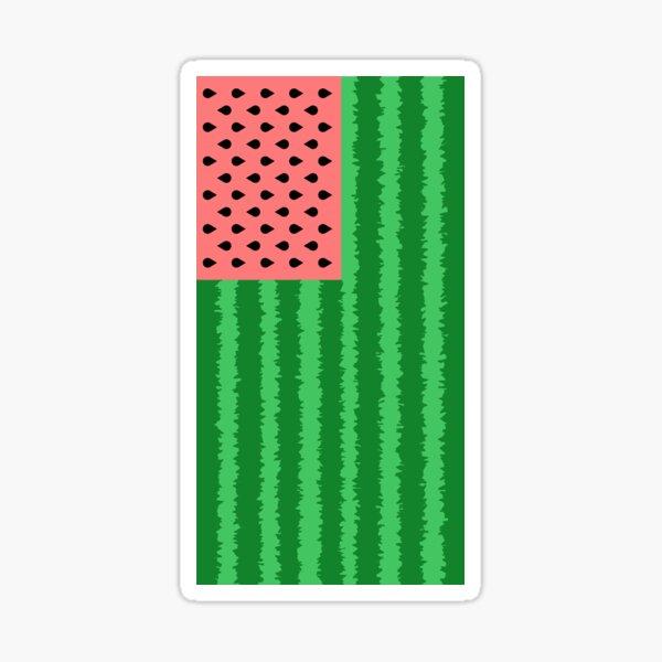 Watermelon Flag (vertical) Sticker