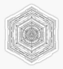 Anatomy of a Cube (Grey) Sticker