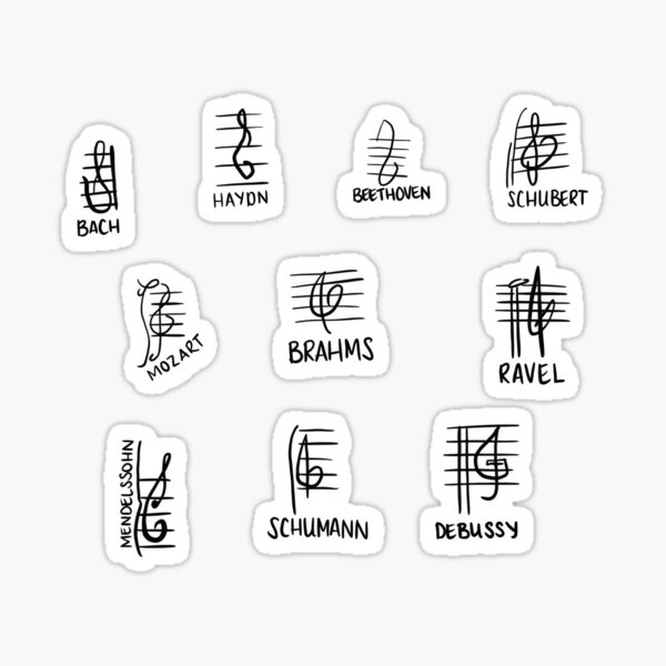 Composer Treble Clefs Sticker
