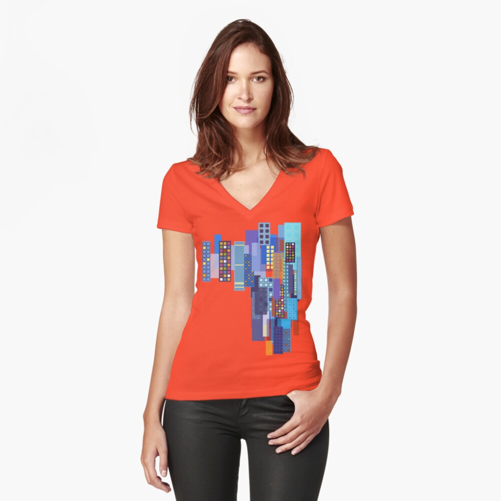 A Night at the Children's Museum Fitted V-Neck T-Shirt