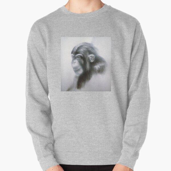 Chimp by Avril Thomas Pullover Sweatshirt