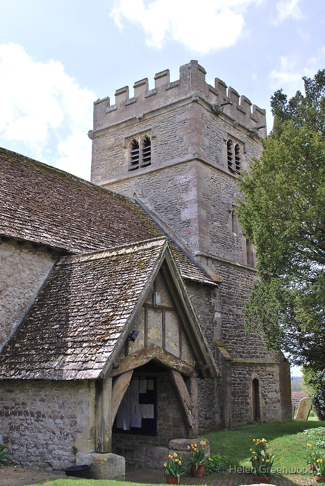 St Giles in Great Coxwell, UK by Helen Greenwood