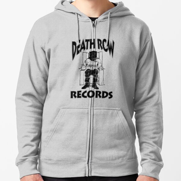 death row-records ruge merch Zipped Hoodie