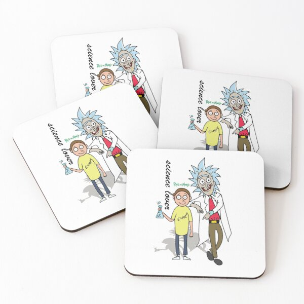 Rick and Morty™ T-Shirt | Rick and Morty™ SCIENCE LOVER POSTER  Coasters (Set of 4)