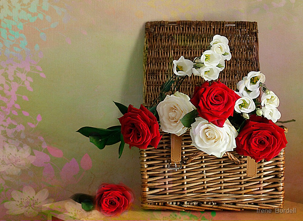 Rose Basket  by Irene  Burdell