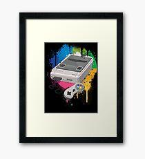 Gaming console splatter Framed Print