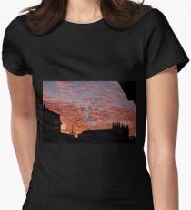 Tropical Sunset Magic, Rankin St. Innisfail Qld Women's Fitted T-Shirt