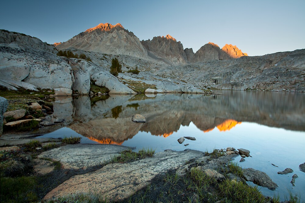 Sunset on the Palisades, Sierra Nevada by Scott Sawyer