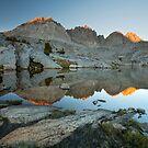 Sunset on the Palisades, Sierra Nevada by Scott Sawyer