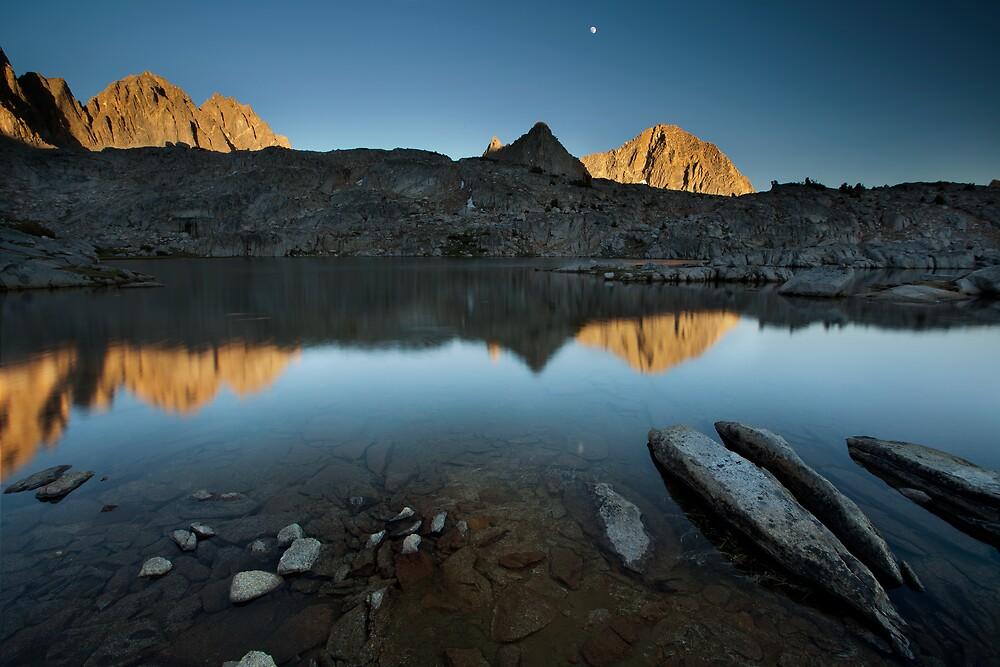 Moonrise over Dusy Basin, Sierra Nevada by Scott Sawyer
