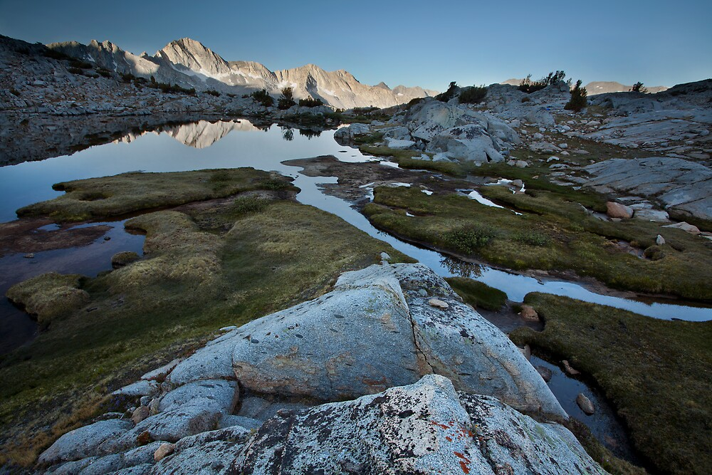 Sunrise on Dusy Basin, Sierra Nevada by Scott Sawyer