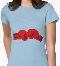 Boxing Gloves Womens Fitted T-Shirt