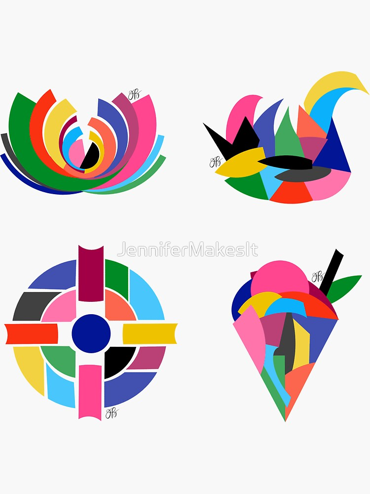 Colorful Abstract Sticker Pack 2 by JenniferMakesIt