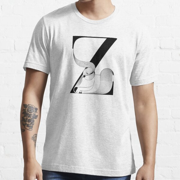 Letter Z stands for Zebu black and white Essential T-Shirt