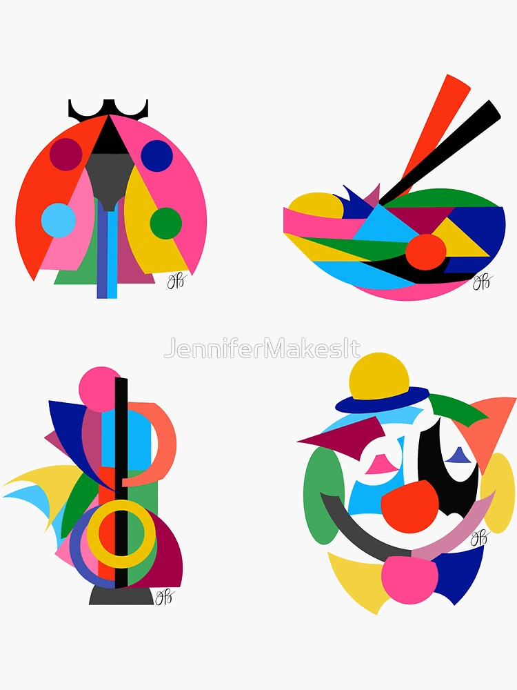 Colorful Abstract Sticker Pack 3 by JenniferMakesIt