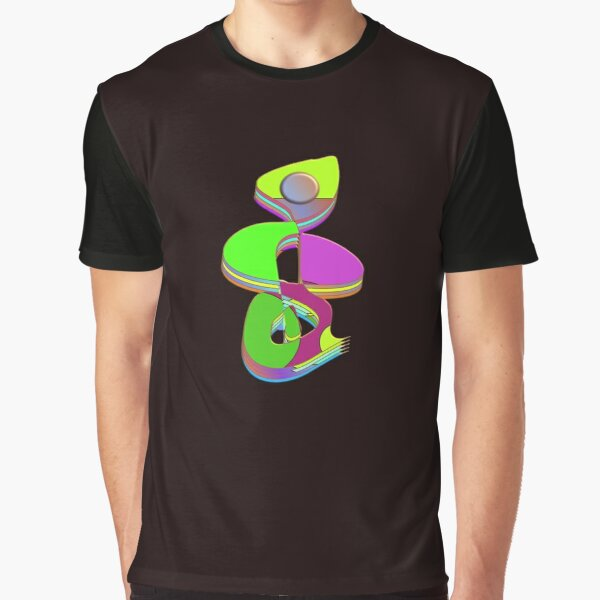Treble clef 3D Modern Art Musical Score Graphic T-Shirt