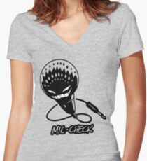 Mic-Check Women's Fitted V-Neck T-Shirt
