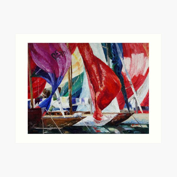 Regatta Break Art Print