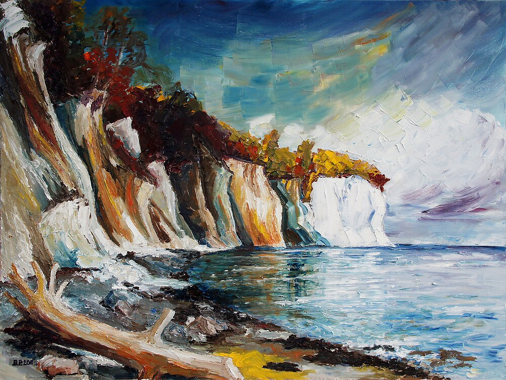 Chalk Cliffs On The Island Ruegen In Fall by Barbara Pommerenke