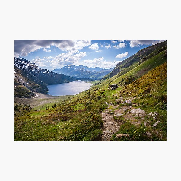 Engstlenalp and lake, Switzerland Photographic Print
