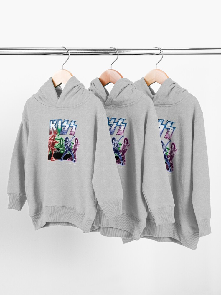 Alternate view of KISS band Toddler Pullover Hoodie
