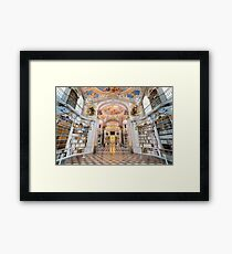 Inside the abbey library of Admont Framed Print