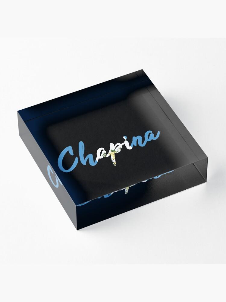 Alternate view of Chapina Guatemala  Acrylic Block