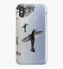 Boys will be boys: low-flying Spitfires iPhone Case/Skin