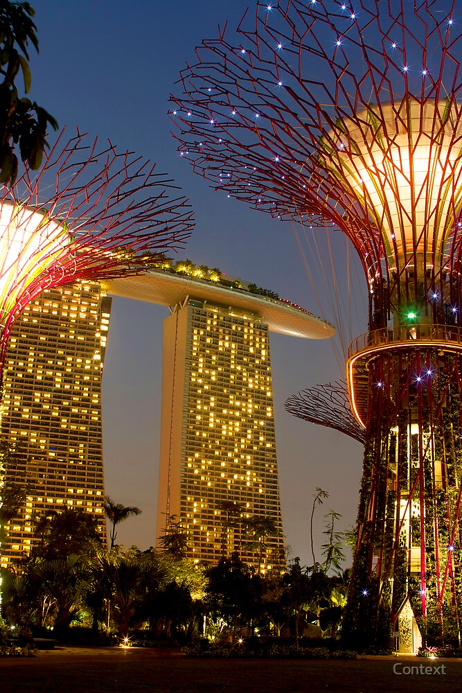 Supertrees and Marina Bay Sands by Context