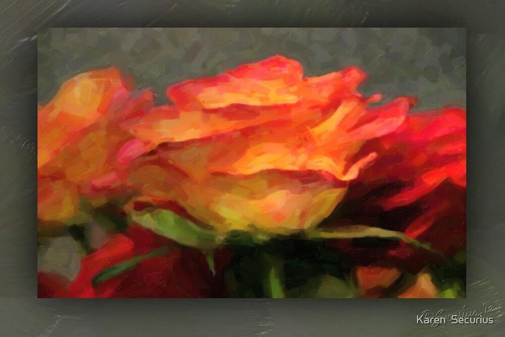 red-gold rose oil01 by Karen  Securius