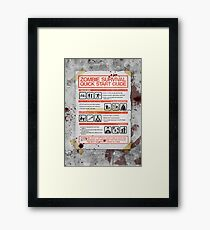 Zombie Survival - Quick Start Guide Framed Print