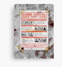 Zombie Survival - Quick Start Guide Canvas Print