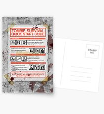 Zombie Survival - Quick Start Guide Postcards