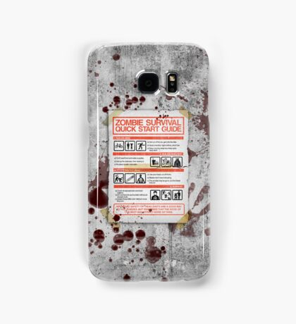 Zombie Survival - Quick Start Guide Samsung Galaxy Case/Skin