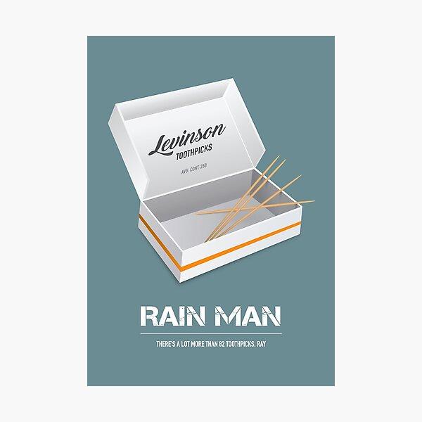 Rain Man - Alternative Movie Poster Photographic Print