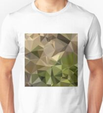 Burlywood Brown Abstract Low Polygon Background Slim Fit T-Shirt