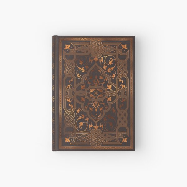 Old magic knot fantasy book Hardcover Journal