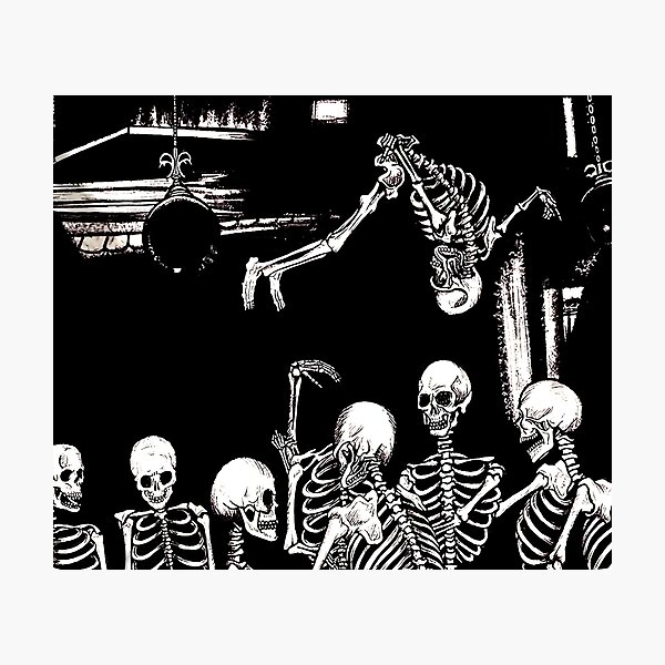 Skeleton Die Lit Photographic Print