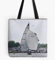 Leaving Port on Sodus Bay Tote Bag