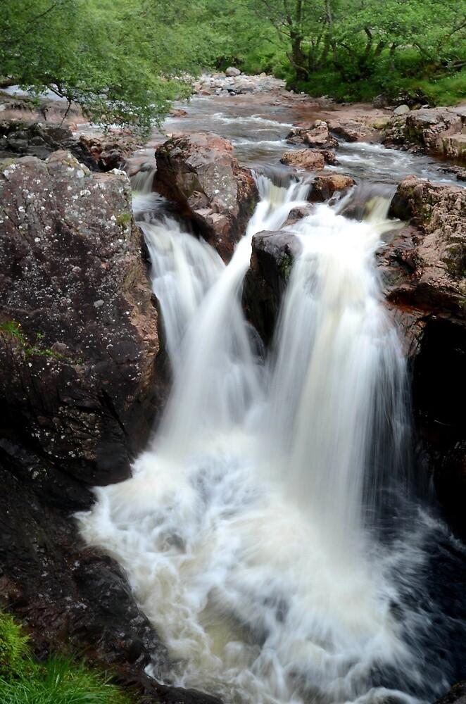 Lower falls in Glen Nevis by EileenW