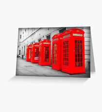 Telephone Boxes Greeting Card